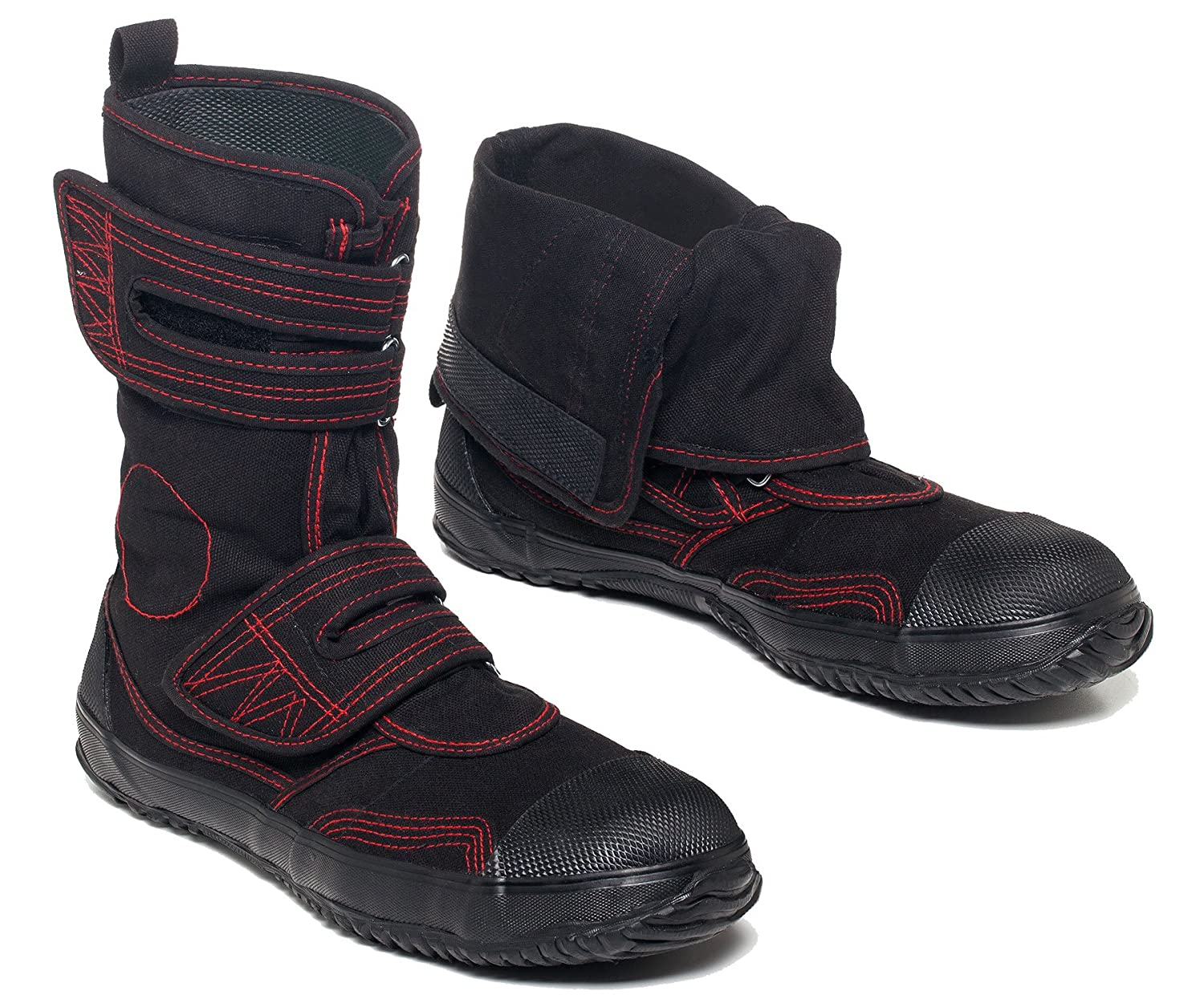 fugu Sa-Me Japanese Vegan Boots, Eco-Friendly Mid-Calf Boots with Rubber Sole B01524RZME USW 8 - 8.5 JP24.5|Red & Black