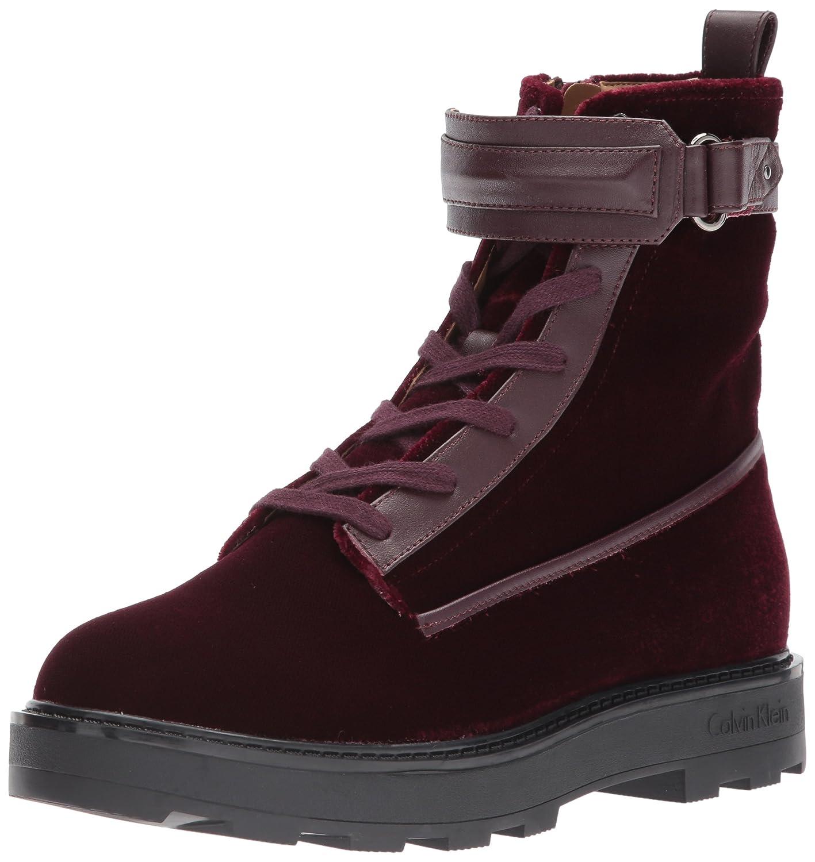 Calvin Klein Women's Vanora Combat Boot B071JNHD4H 7 B(M) US|Burgundy