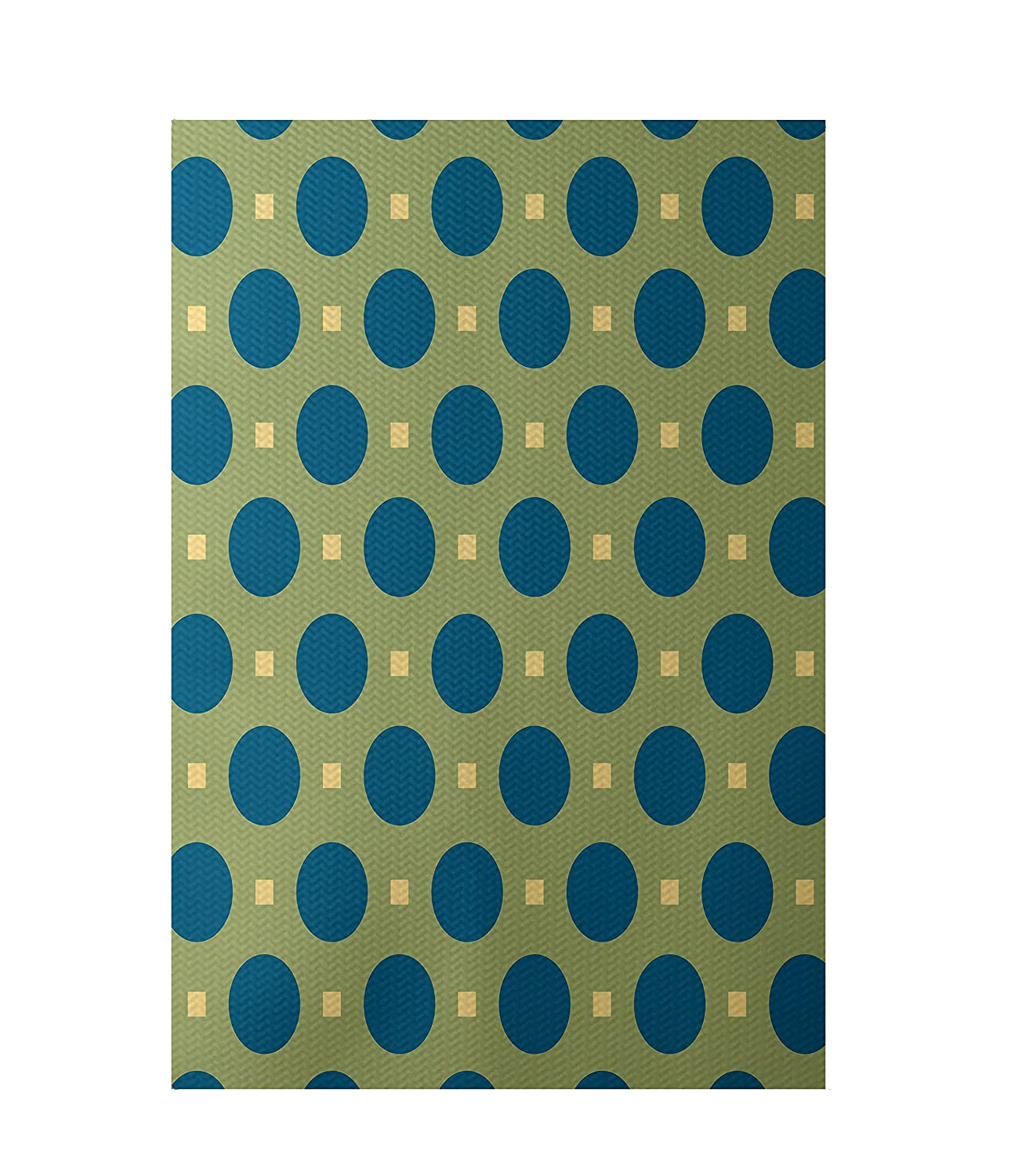 Apple E by design RGN184GR17BL11-23 Dash Geometric Print Indoor//Outdoor Rug