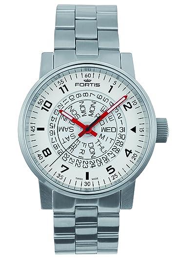 Fortis Spacematic counterrotation reloj automático, ETA 2836 – 2, blanco, límite de Ed