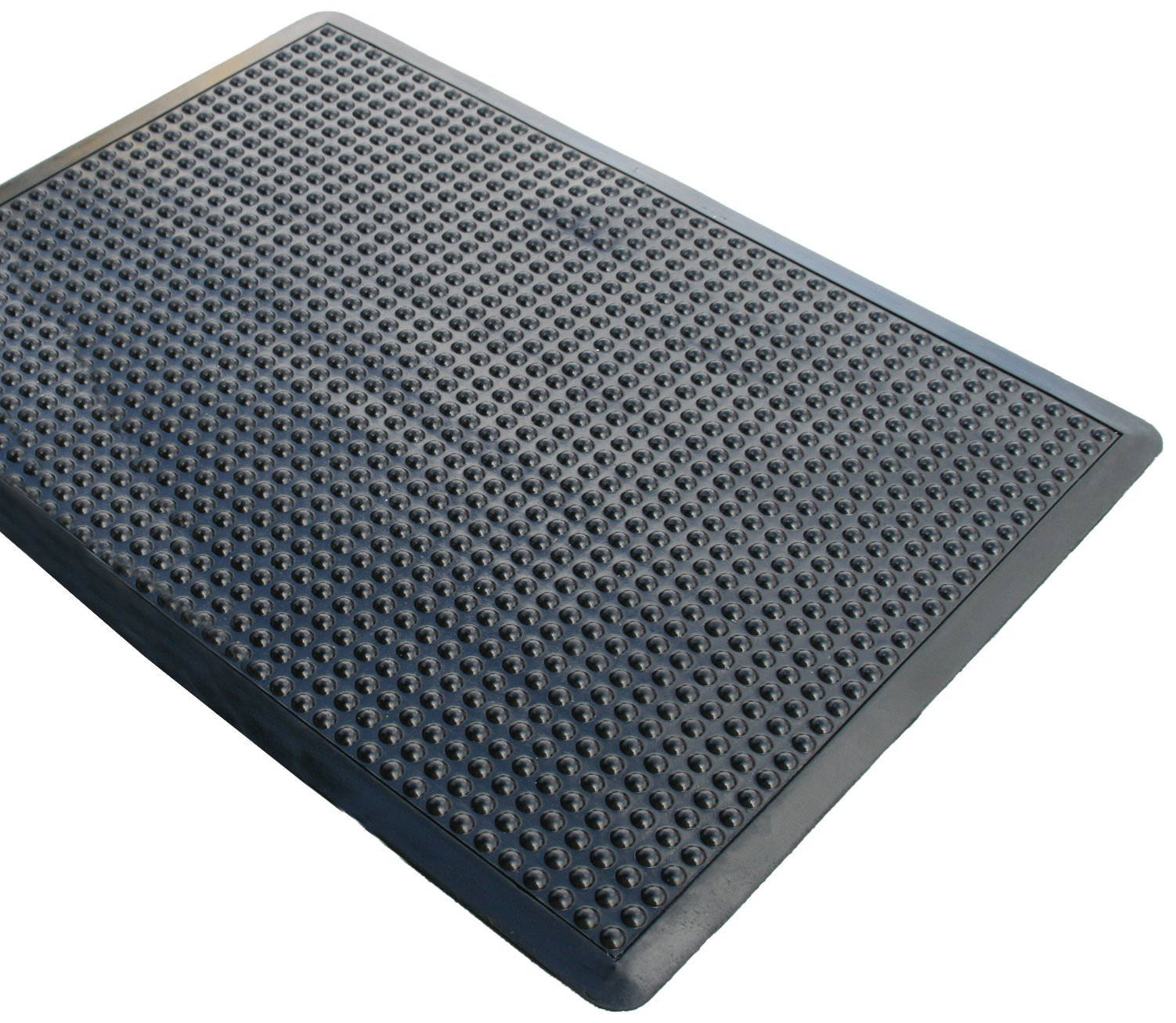 Rhino Mats UD3648S Ultra-Dome Workstation Anti-Fatigue Welding Mat, 3' Width x 4' Length x 3/4'' Thickness, Black