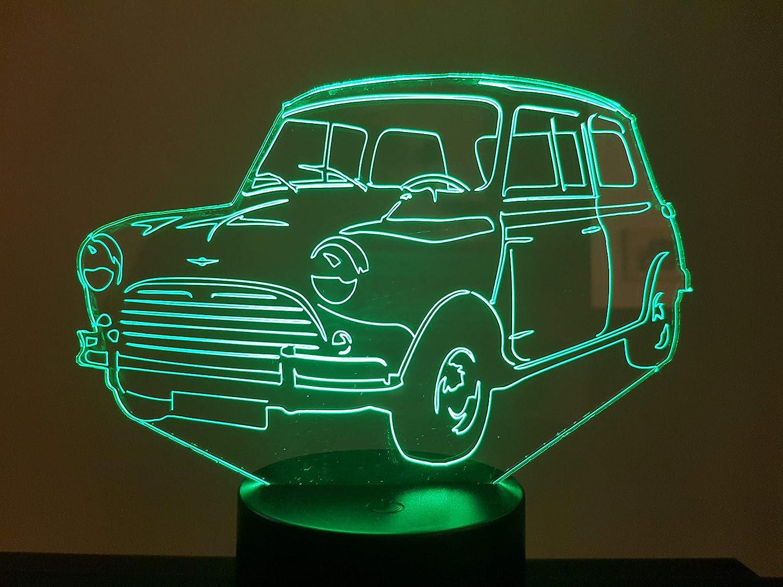 Austin mini Cooper 1275-S 1964-1967-, lampe 3D à LED