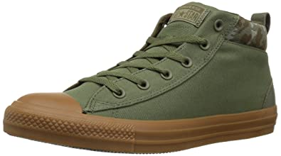 b7feb86ee0650f Converse Women s Chuck Taylor All Star Street Mid Sneaker Field Surplus Surplus  Olive 7 M