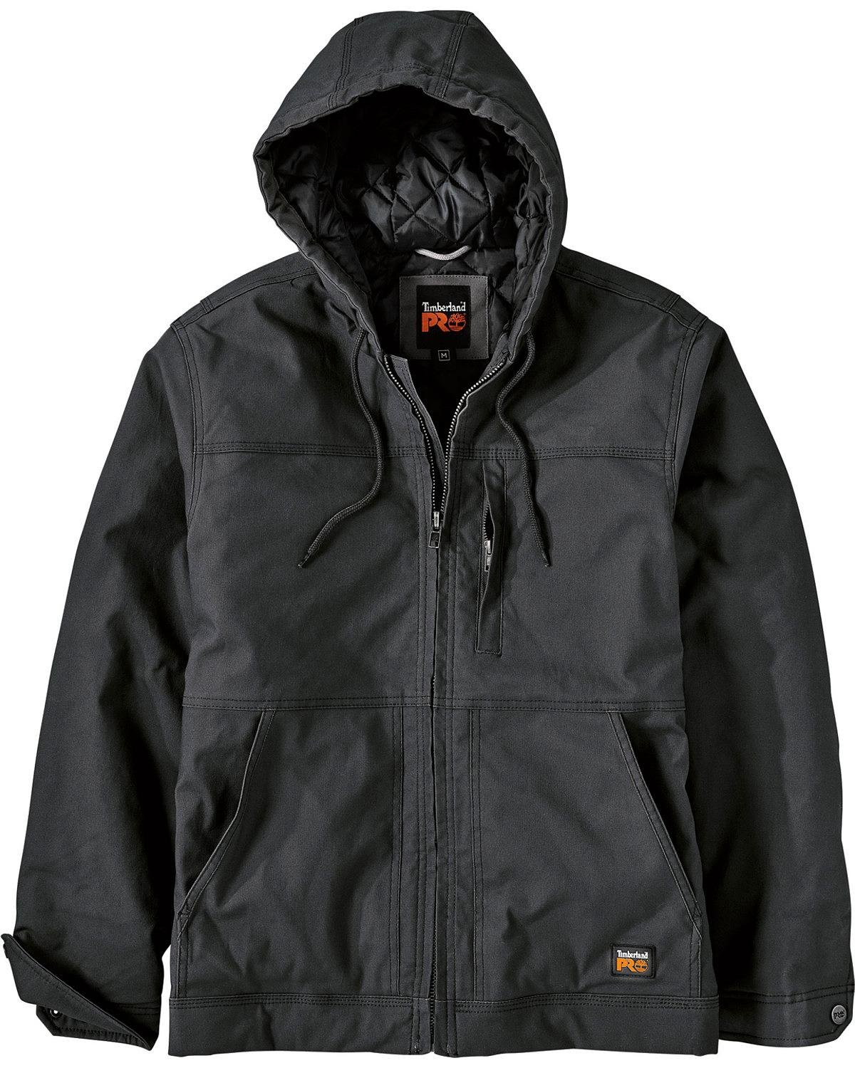 Timberland PRO Men's Big and Tall Baluster Insulated Hooded Work Jacket, Jet Black, X-Large