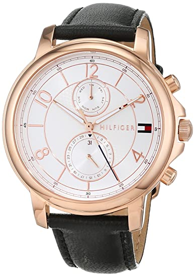 Tommy Hilfiger - Reloj Multiesfera para Mujer de Cuarzo con Correa en Cuero 1781817: Tommy Hilfiger: Amazon.es: Relojes
