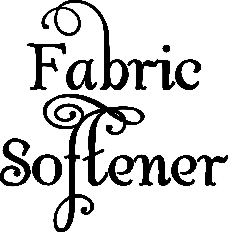 "Minglewood Trading Fabric Softener Label - Vinyl Decal Sticker - 4.5"" x 4.5"" - Laundry Room"