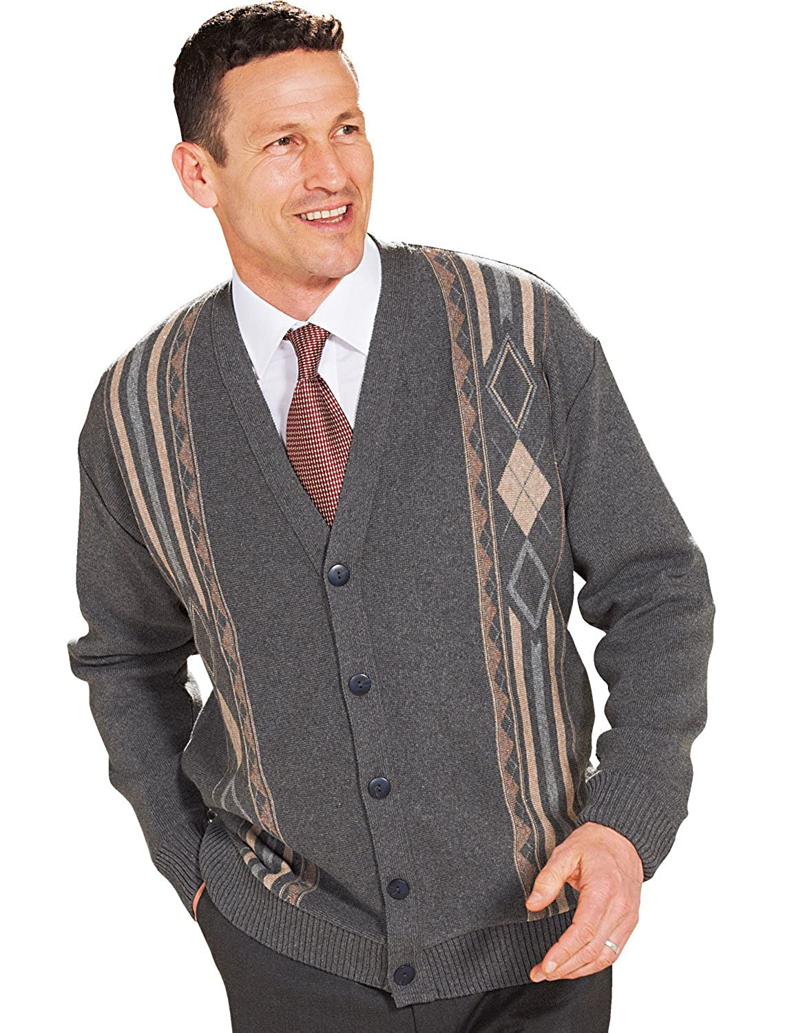 1950s Men's Clothing Benbrook Mens Jaquard Button Cardigan $61.10 AT vintagedancer.com