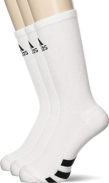 adidas 3-Pack Crew Calcetines Deportivos, Hombre, Blanco (Blanco Cf8411), 39/42 (Tamaño del Fabricante:6.5-10): Amazon.es: Deportes y aire libre