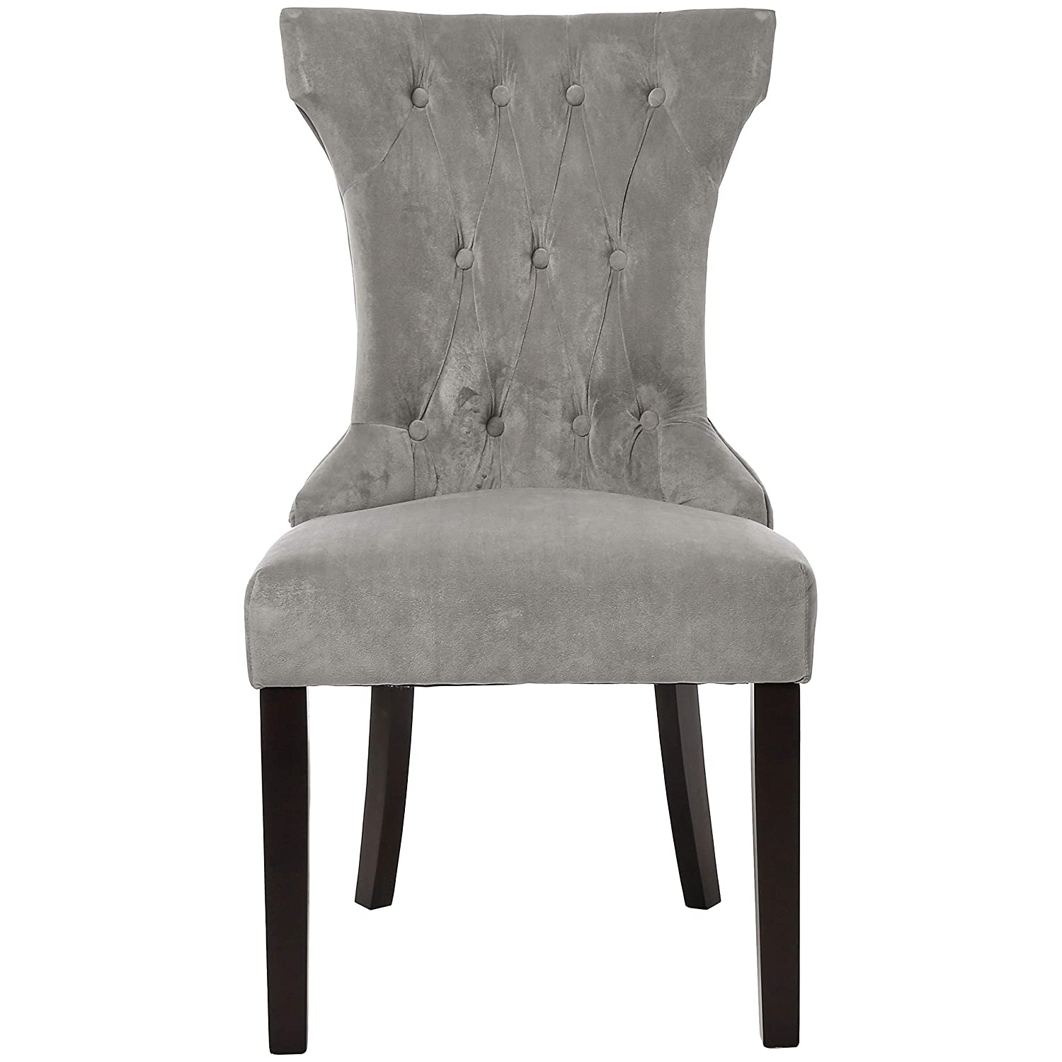 Red Hook Mitros Tufted Upholstered Armless Dining Chair - Set of 2, Pewter Grey