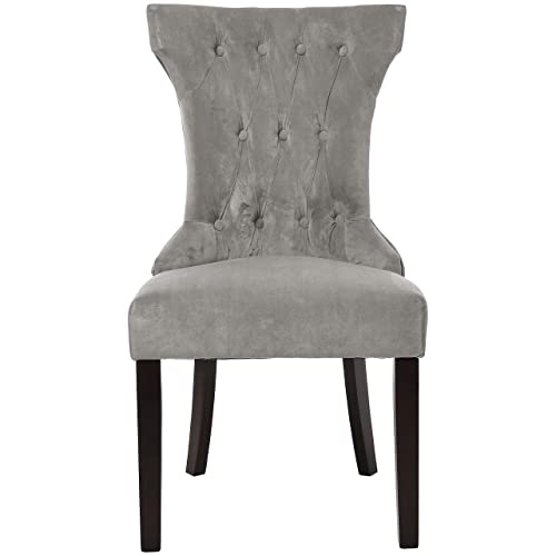 Red Hook Mitros Tufted Upholstered Armless Dining Chair – Set of 2, Pewter Grey