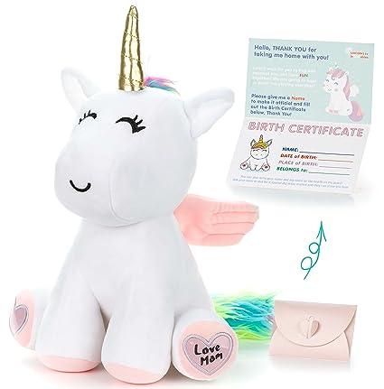 Amazon Com Unicorn Stuffed Animal Cute Unicorn Gifts Large 13