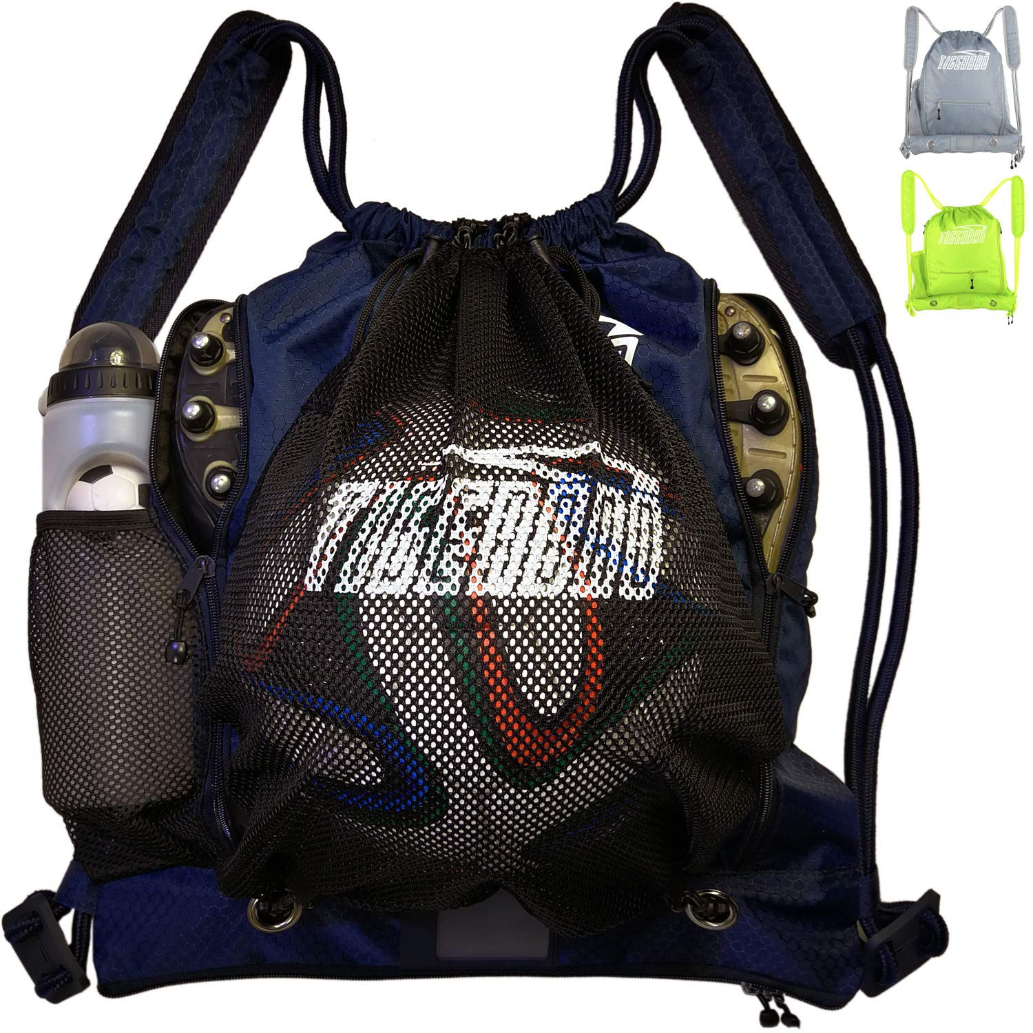 Tigerbro Soccer Backpack for Youth Kids Girls Boys Women Men Sports Bag for  Basketball Football with 48a1aab353fb2