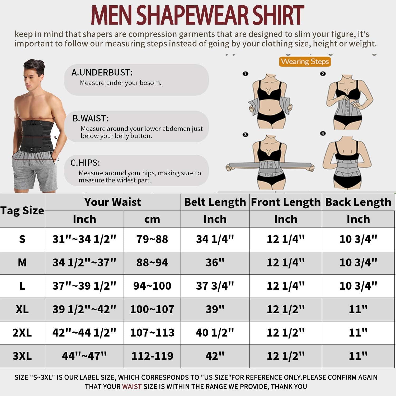 MISS MOLY Men Fitness Neoprene Waist Trainer Corset with Belt Weights Workout Trimmer Sport Waist Cincher Shaper