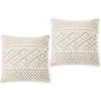 Dahey Throw Pillow Cover Macrame Pillow Case Decorative Cushion Cover for Bed Sofa Couch Bench Car Boho Home Decor,Set…