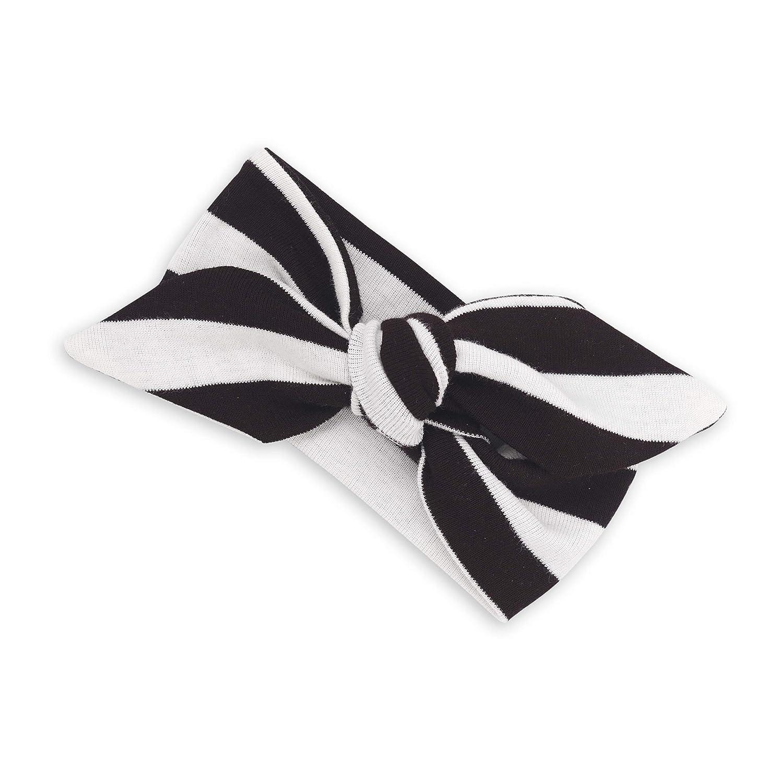 Amazon.com  Tesa Babe Black + Ivory White Striped Headband for Baby Girls d09be8e6efb