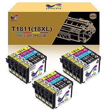 ONLYU Cartuchos de tinta compatibles para 18XL (T1811-T1814) para ...