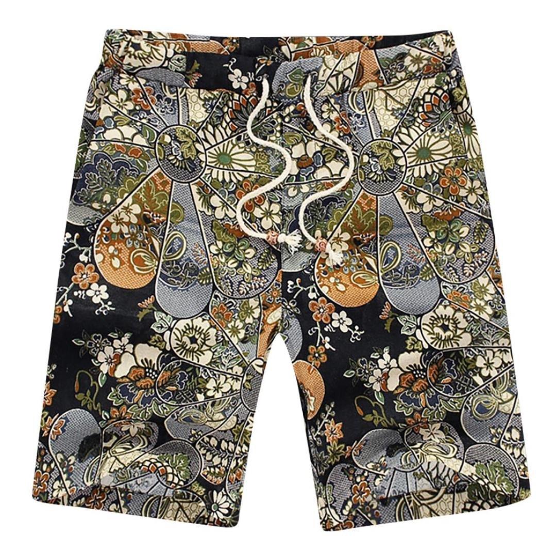 iOPQO Shorts for Men, Summer Sports Casual Print Beach Short Pants Cool Pants