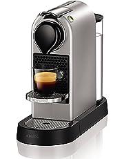 Nespresso Intenso Krups Citiz Flow XN740B Cafetera monodosis de 19 bares con 2 programas de café personalizables, bandeja extraíble y autoapagado, color titán
