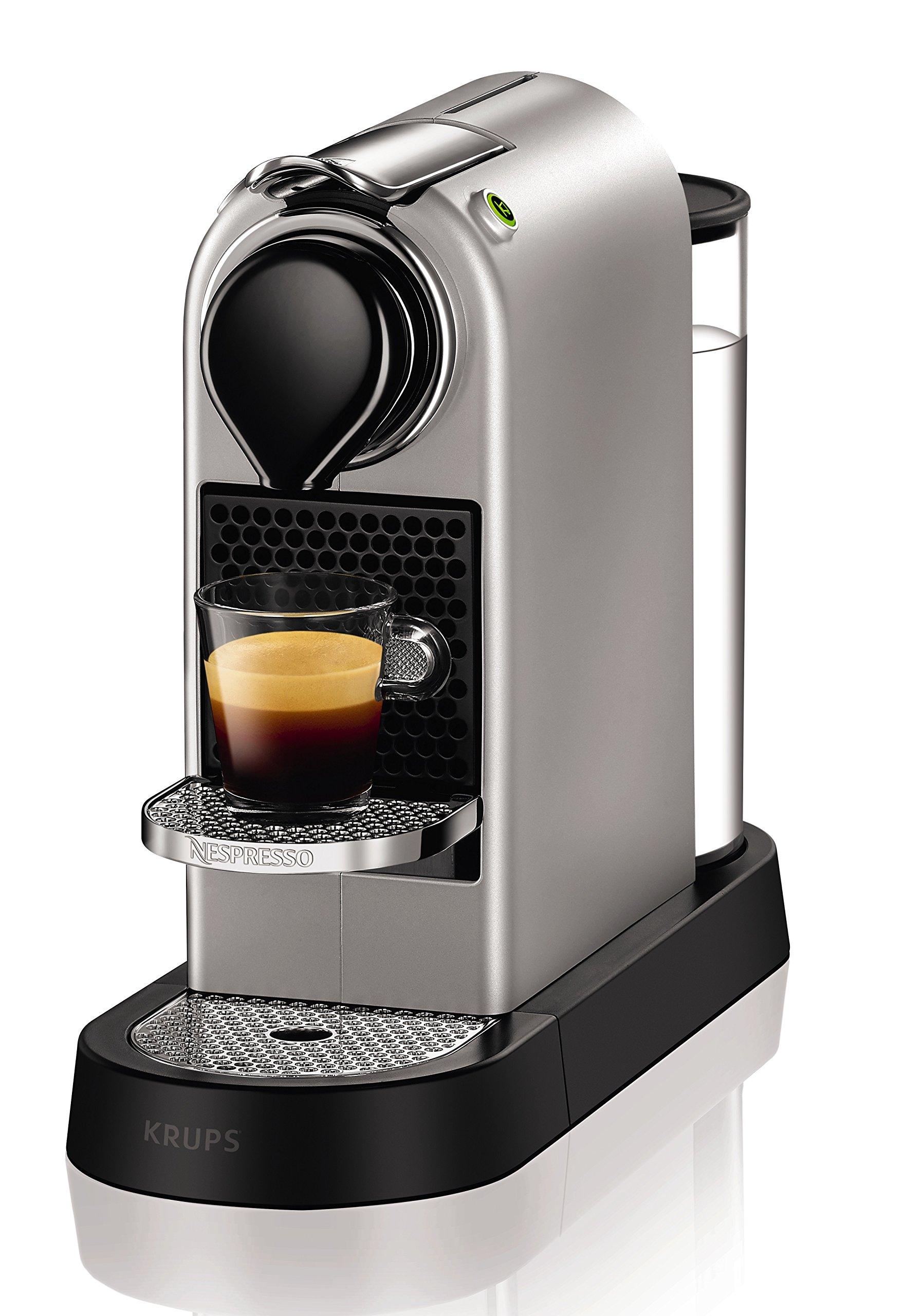 Nespresso Krups Citiz XN740B - Cafetera monodosis de cápsulas Nespresso, compacta, 19 bares,