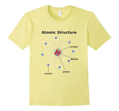 Amazon atomic structure diagram t shirt atom model science buff mens atomic structure diagram t shirt atom model science buff 2xl lemon ccuart