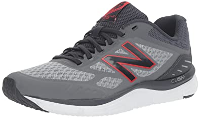 New Balance Men's M775V3 Running Shoe, Steel/Outer Space/Alpha Red, 7