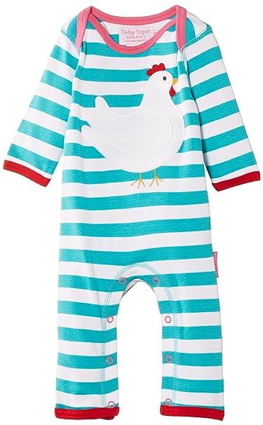 Toby Tiger - Pijama a rayas para bebé, talla 0-3 meses, color