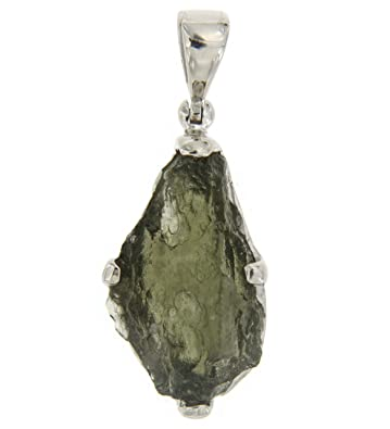 Amazon starborn sterling silver natural moldavite pendant jewelry starborn sterling silver natural moldavite pendant aloadofball Images