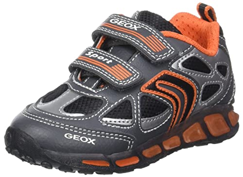 Geox J Shuttle a, Zapatillas para Niños, Negro (Black/limec0802), 27 EU