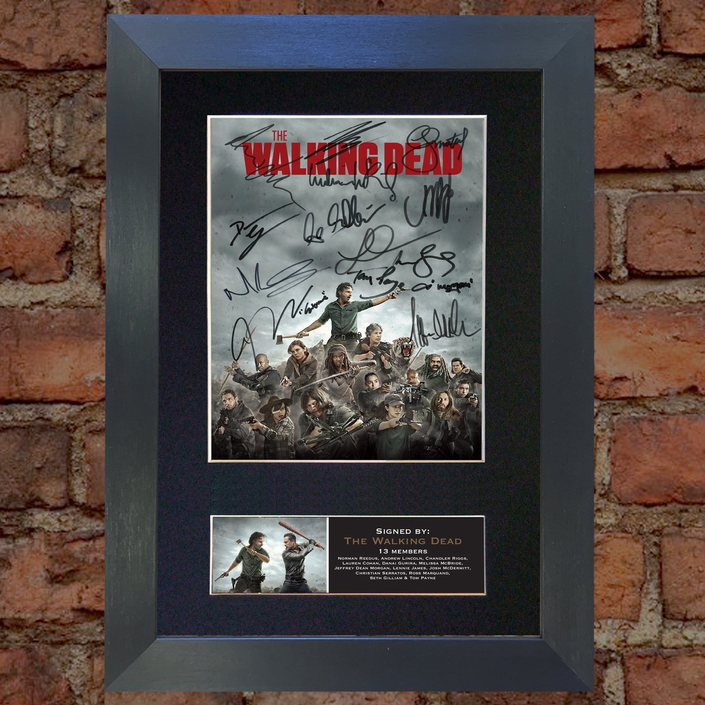 U've Been Framed U 5e encadrée 724The Walking Dead No2Top Qualité Photo Montage Reproduction dédicacée A4Rare Parfait Anniversaire Cadeau de Noël (210x 297mm) A4 12 x 8 (297 x 210mm) U' ve Been Framed