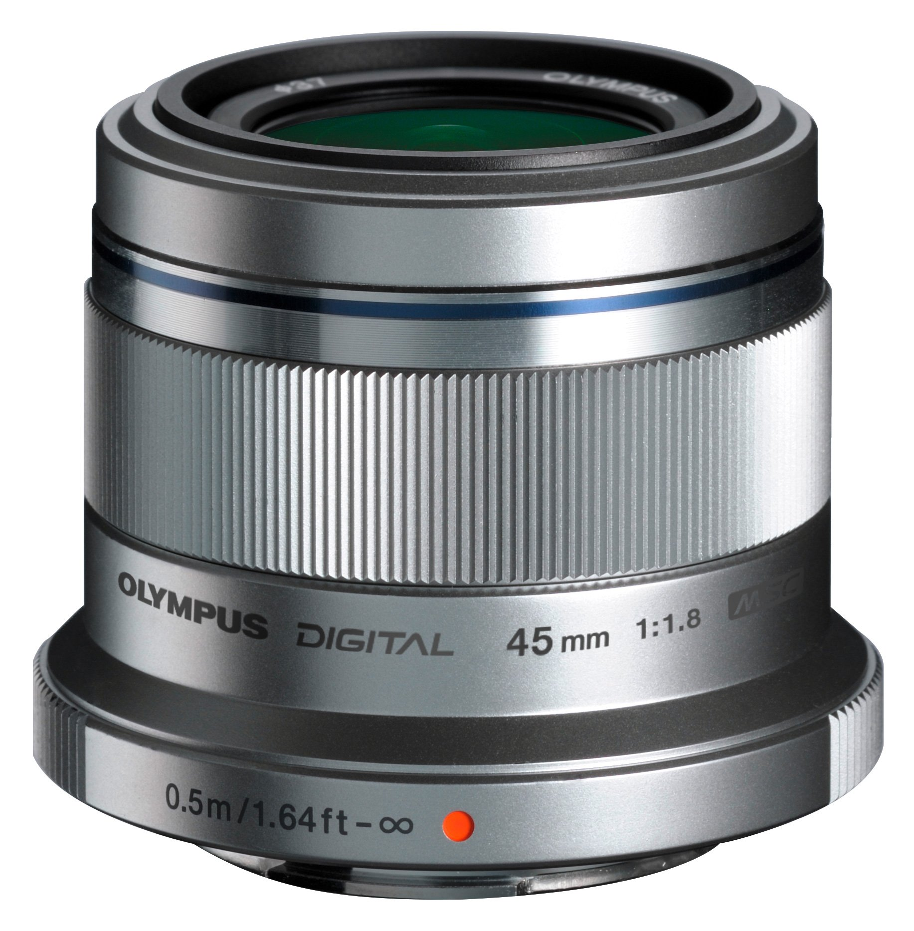 Olympus M. Zuiko Digital ED 45mm f1.8 (Silver) Lens for Micro 4/3 Cameras - International Version (No Warranty) by Olympus