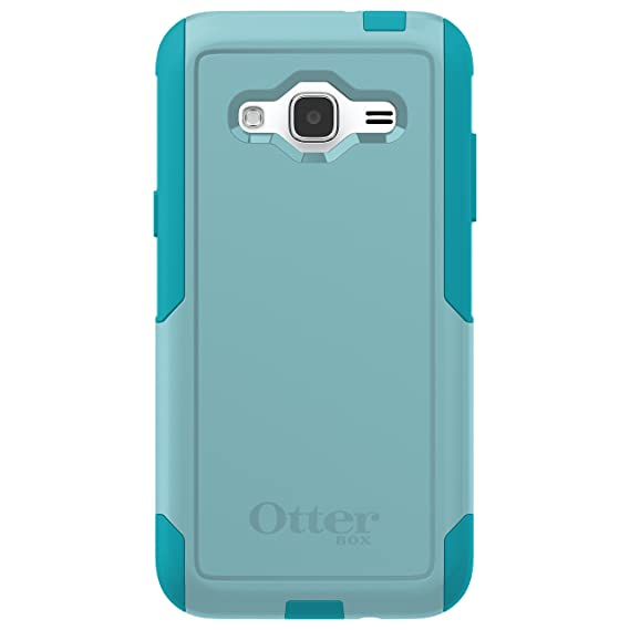check out 2aa12 785f5 OtterBox COMMUTER SERIES Case for Samsung Galaxy J3/J3 V (Compatibility  below) - Retail Packaging - AQUA SKY (AQUA BLUE/LIGHT TEAL)