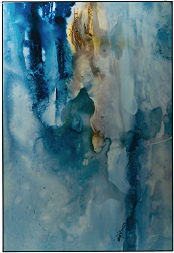 Sycamore Decor Blue 47″x31″ Glossy Abstract Wall D cor
