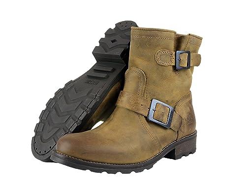 Palladium P-L-D-M by Upcast CLP Women s Leather Boots Brown Black ... ca1116b1b