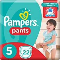 Pampers Pants Diapers, Size 5, Junior, 12-18 kg, Carry Pack, 22 Count