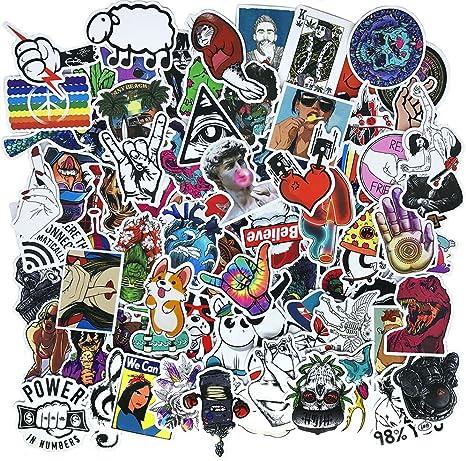 Cool Teens 100 Stück Coole Aufkleber Wasserdicht Lustig Graffiti Aufkleber Für Laptop Stoßstange Fahrrad Gepäck Skateboard Helm Auto Telefon Küche Haushalt