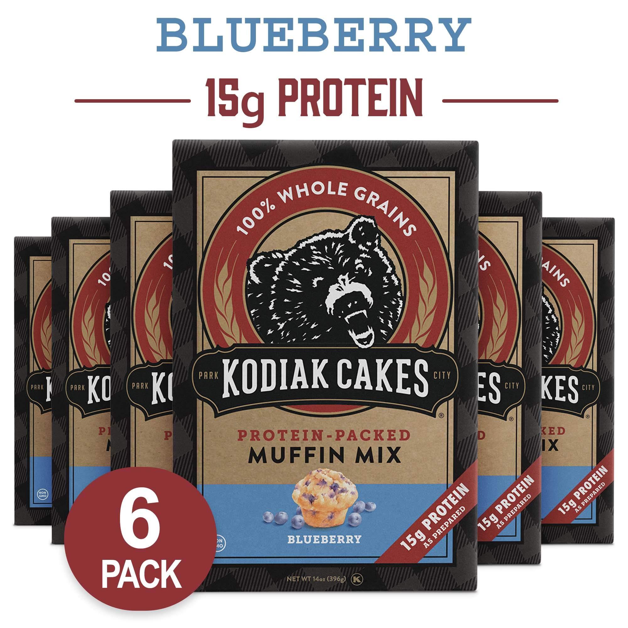 Kodiak Cakes Muffin Mix, Blueberry, 14 Ounce, Pack of 6 by Kodiak Cakes