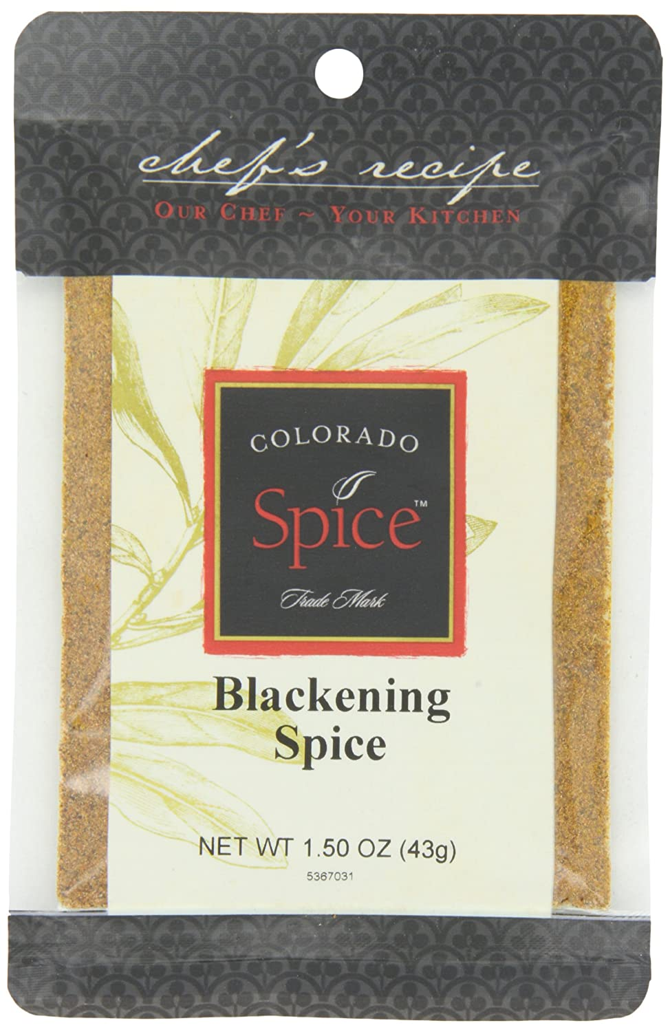 Colorado Spice Company, Beef, Poultry, Pork and Lamb Spice, Blackening Spice, 1.5-Ounce-Ounce-Ounce Packet (Pack of 12)