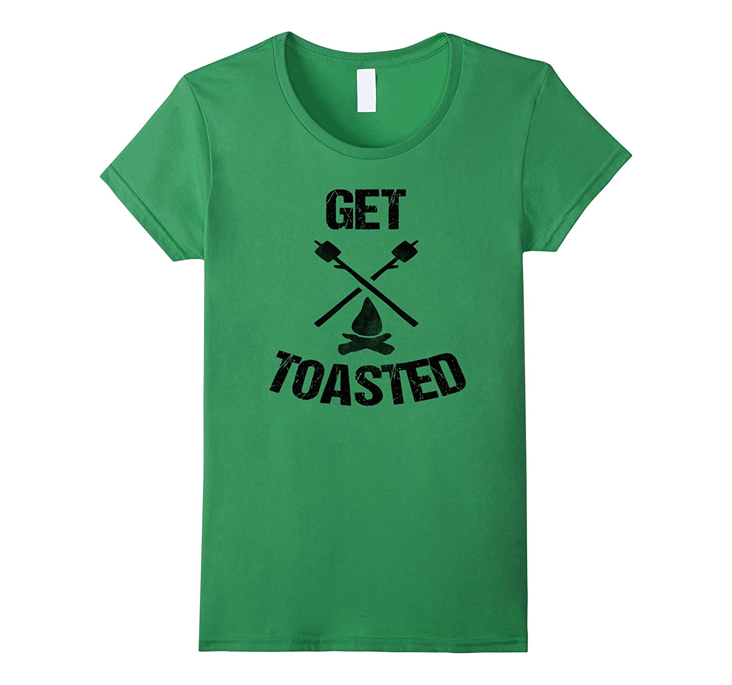 Get Toasted Funny Cool Camping Glamping Campfire T Shirt