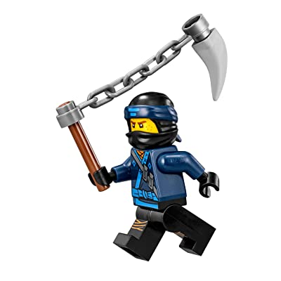 LEGO The Ninjago Movie Minifigure - Jay (in Ninjao Suit w/ Spiked Chain) 70618: Toys & Games