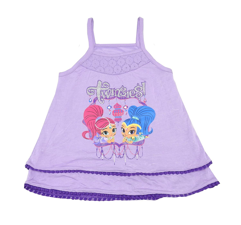 N Nickelodeon Girls Size 6 Twinsies Tank Top Purple//Multi