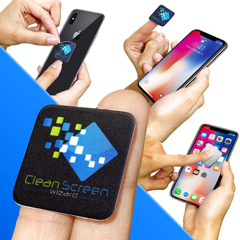 Microfiber Cloth Bundle: Clean Screen Wizard Microfiber Screen Cleaner Sticker, 6