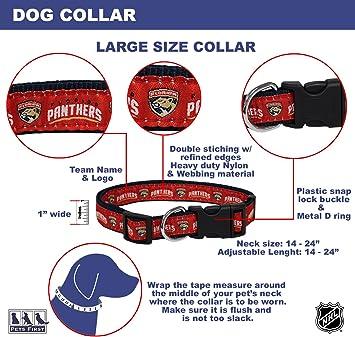 Pets First Florida Panthers Dog Collar