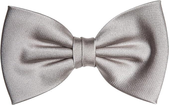 Pelo corbata de moño gris plata de seda: Amazon.es: Ropa y accesorios