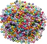 Creation Station New Pony Beads 500-Piece, Assorted Colours