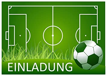 11 (+ 1 Karte Gratis) Fussball Einladungskarten Zur Fussball Party,  Grillparty