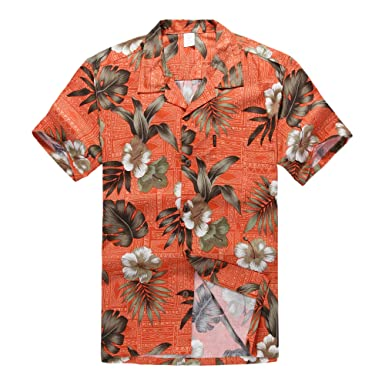 b742c171 Palm Wave Men's Hawaiian Shirt Aloha Shirt at Amazon Men's Clothing ...