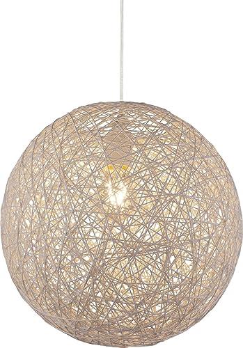 Lámpara de techo bola de papel trenzado 1 de techo Iluminación de techo dormitorio lámpara colgante (Proyección, Salón, 32 cm, altura 120 cm, beige): Amazon.es: Iluminación