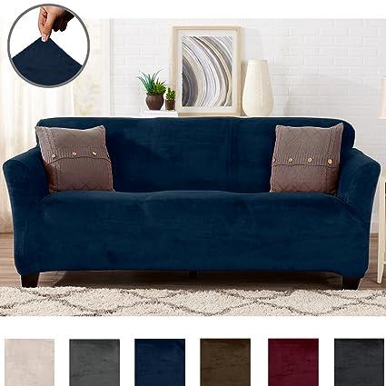 Top Amazon.com: Great Bay Home Modern Velvet Plush Strapless Slipcover  NK38