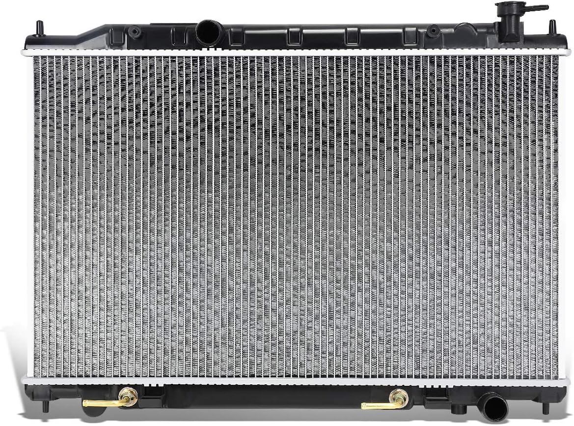 DNA Motoring OEM-RA-2578 OE Style Aluminum Core Radiator DPI 2578,Black / Metallic
