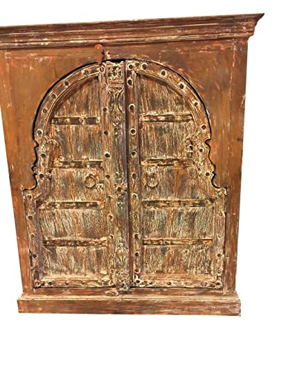Genial Rustic Furniture Mogulinterior Antique Chest Haveli Rustic Red Wooden  Double Door Designs Gothic Decor